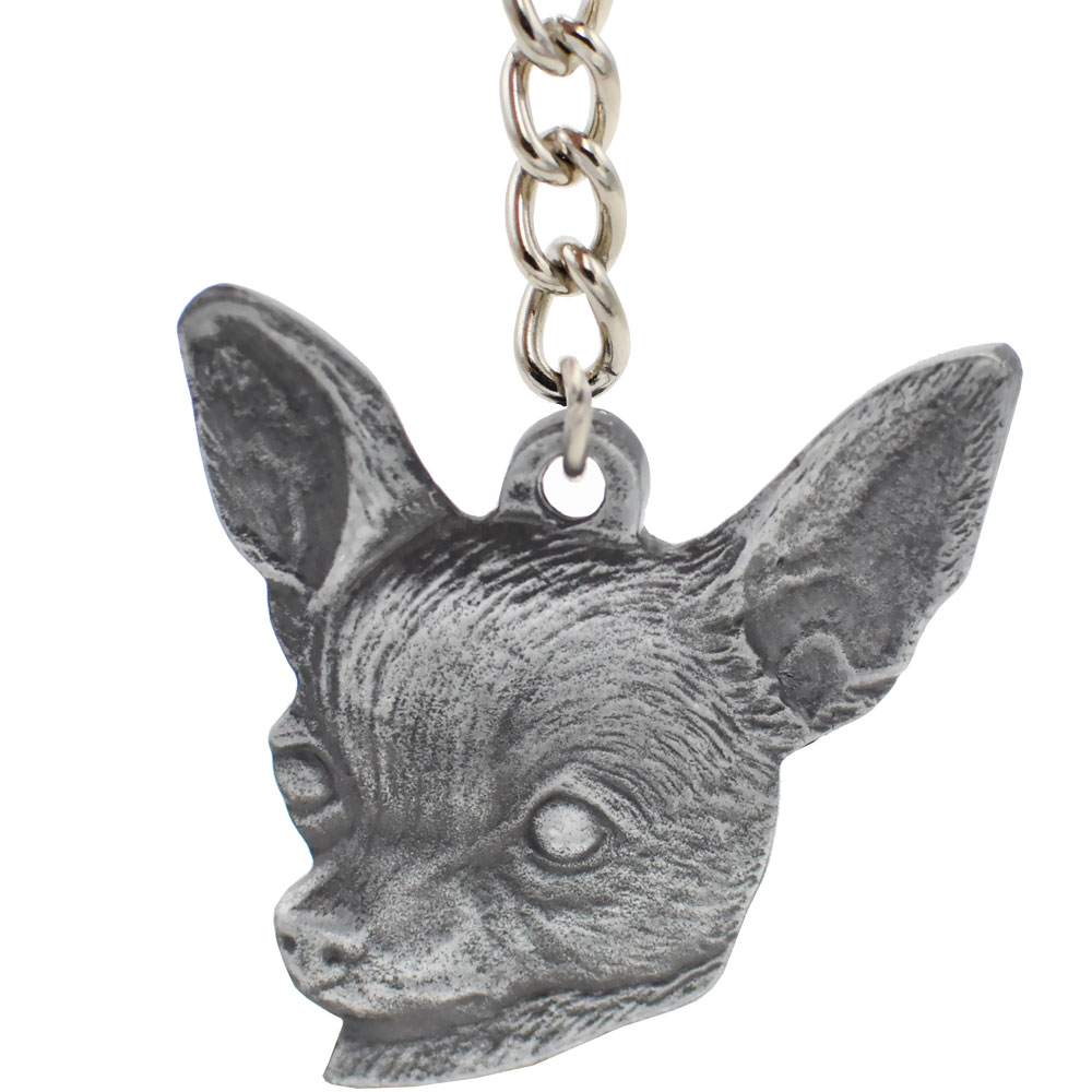 Dog Breed Keychain Usa Pewter Chihuahua 25 Healthypets