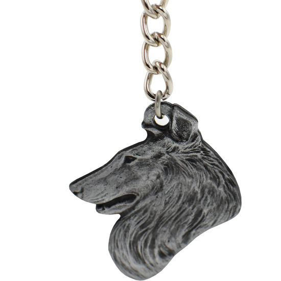 """Dog Breed Keychain USA Pewter - Collie (2.5"""")"""