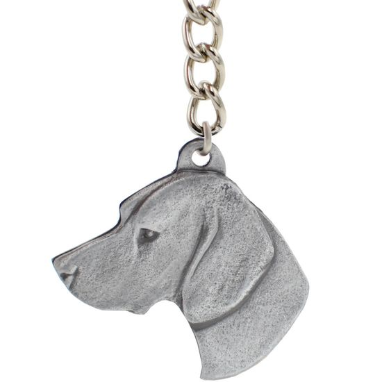 """Dog Breed Keychain USA Pewter - German Shorthaired Pointer (2.5"""")"""