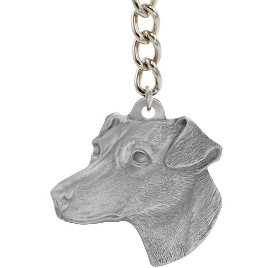 """Dog Breed Keychain USA Pewter - Jack Russell Terrier (2.5"""")"""