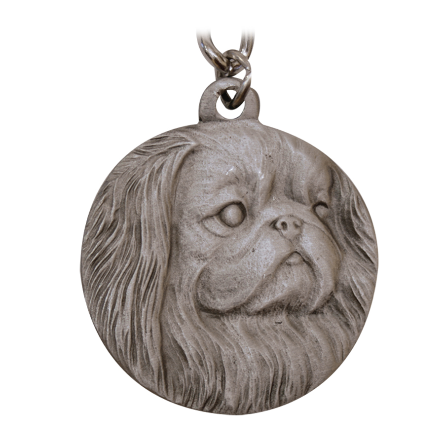 Dogs Collectibles Pekingese Keychain Pewter