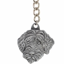 "Dog Breed Keychain USA Pewter - Portugese Water Dog (2.5"")"