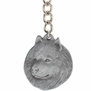 "Dog Breed Keychain USA Pewter - Samoyed (2.5"")"