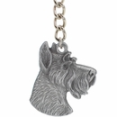 "Dog Breed Keychain USA Pewter - Schnauzer (2.5"")"