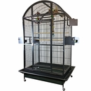 """Dome Top Bird Cage with 1"""" Bar Spacing - Black (40""""x30""""x75"""")"""