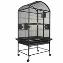 """Dome Top Bird Cage with 3/4"""" Bar Spacing - Black (32""""x23""""x63"""")"""