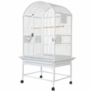 """Dome Top Bird Cage with 3/4"""" Bar Spacing - White (32""""x23""""x63"""")"""