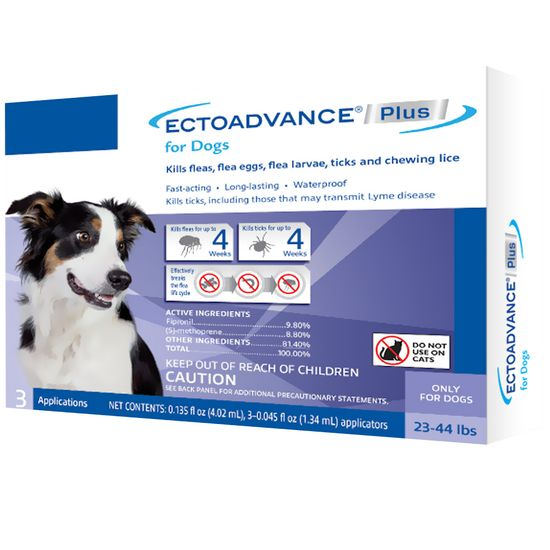EctoAdvance Plus for Dogs 23-44 lbs (3 Doses)