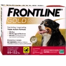 Frontline Gold for Dogs 89-132 lbs, 3 Month