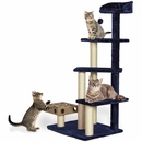 FurHaven Cat Furniture Play Stairs with Cat-IQ Busy Box - Blue