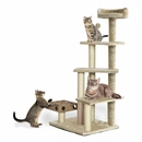 FurHaven Cat Furniture Play Stairs with Cat-IQ Busy Box - Cream