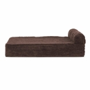 FurHaven Cooling Gel Top Chaise Lounge Sofa-Style Pet Bed - Dark Espresso (Large)