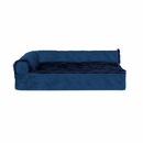 FurHaven Cooling Gel Top Chaise Lounge Sofa-Style Pet Bed - Deep Sapphire (Small)