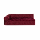 FurHaven Cooling Gel Top Chaise Lounge Sofa-Style Pet Bed - Merlot Red (Medium)