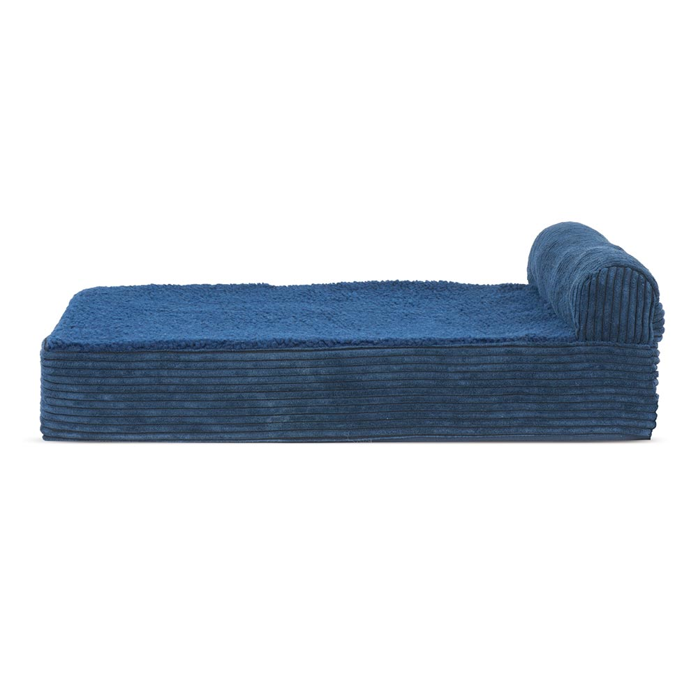 Superb Furhaven Cooling Gel Top Chaise Lounge Sofa Style Pet Bed Navy Blue Small Alphanode Cool Chair Designs And Ideas Alphanodeonline
