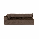 FurHaven Cooling Gel Top Chaise Lounge Sofa-Style Pet Bed - Sable Brown (Small)