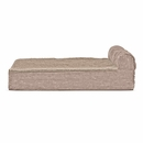 FurHaven Cooling Gel Top Chaise Lounge Sofa-Style Pet Bed - Sandstone (Jumbo)