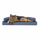 FurHaven Plush & Decor Comfy Couch Orthopedic Sofa-Style Pet Bed - Diamond Blue (Jumbo)