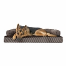 FurHaven Plush & Decor Comfy Couch Orthopedic Sofa-Style Pet Bed - Diamond Brown (Jumbo)
