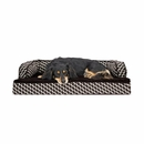 FurHaven Plush & Decor Comfy Couch Orthopedic Sofa-Style Pet Bed - Diamond Brown (Medium)