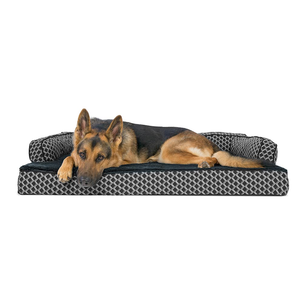 Stupendous Furhaven Plush Decor Comfy Couch Orthopedic Sofa Style Pet Bed Diamond Gray Jumbo Bralicious Painted Fabric Chair Ideas Braliciousco