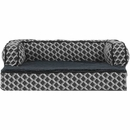 FurHaven Plush & Decor Comfy Couch Orthopedic Sofa-Style Pet Bed - Diamond Gray (Large)