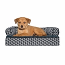 FurHaven Plush & Decor Comfy Couch Orthopedic Sofa-Style Pet Bed - Diamond Gray (Small)