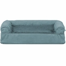 FurHaven Plush & Suede Orthopedic Sofa Pet Bed - Deep Pool (Medium)