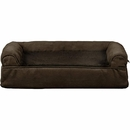 FurHaven Plush & Suede Orthopedic Sofa Pet Bed - Espresso (Small)