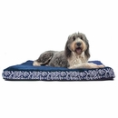 FurHaven Plush Top Kilim Deluxe Orthopedic Pet Bed - Indigo Espresso (Extra Large)