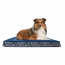 FurHaven Plush Top Kilim Deluxe Orthopedic Pet Bed - Indigo Espresso (Large)