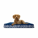 FurHaven Plush Top Kilim Deluxe Orthopedic Pet Bed - Indigo Espresso (Medium)