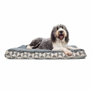 FurHaven Plush Top Kilim Deluxe Orthopedic Pet Bed - Pyramid Gray (Extra Large)