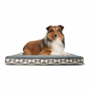 FurHaven Plush Top Kilim Deluxe Orthopedic Pet Bed - Pyramid Gray (Large)