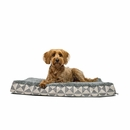 FurHaven Plush Top Kilim Deluxe Orthopedic Pet Bed - Pyramid Gray (Medium)