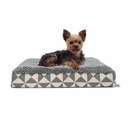 FurHaven Plush Top Kilim Deluxe Orthopedic Pet Bed - Pyramid Gray (Small)