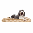 FurHaven Plush Top Kilim Deluxe Orthopedic Pet Bed - Pyramid Latte (Extra Large)