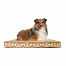 FurHaven Plush Top Kilim Deluxe Orthopedic Pet Bed - Pyramid Latte (Large)
