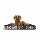 FurHaven Plush Top Kilim Deluxe Orthopedic Pet Bed - Southwest Espresso (Medium)