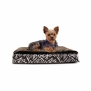 FurHaven Plush Top Kilim Deluxe Orthopedic Pet Bed - Southwest Espresso (Small)