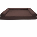 FurHaven Quilted Orthopedic Sofa Pet Bed- Coffee (Small)