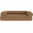 FurHaven Quilted Orthopedic Sofa Pet Bed - Warm Brown (Jumbo)