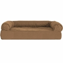 FurHaven Quilted Orthopedic Sofa Pet Bed - Warm Brown (Small)