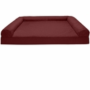 FurHaven Quilted Orthopedic Sofa Pet Bed - Wine Red (Jumbo Plus)