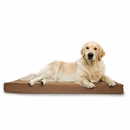 FurHaven Terry & Suede Deluxe Orthopedic Pet Bed - Camel (Jumbo)