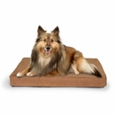 FurHaven Terry & Suede Deluxe Orthopedic Pet Bed - Camel (Medium)