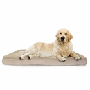 FurHaven Terry & Suede Deluxe Orthopedic Pet Bed - Clay (Jumbo)