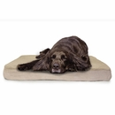FurHaven Terry & Suede Deluxe Orthopedic Pet Bed - Clay (Large)