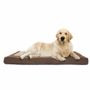 FurHaven Terry & Suede Deluxe Orthopedic Pet Bed - Espresso (Jumbo)