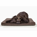 FurHaven Terry & Suede Deluxe Orthopedic Pet Bed - Espresso (Large)